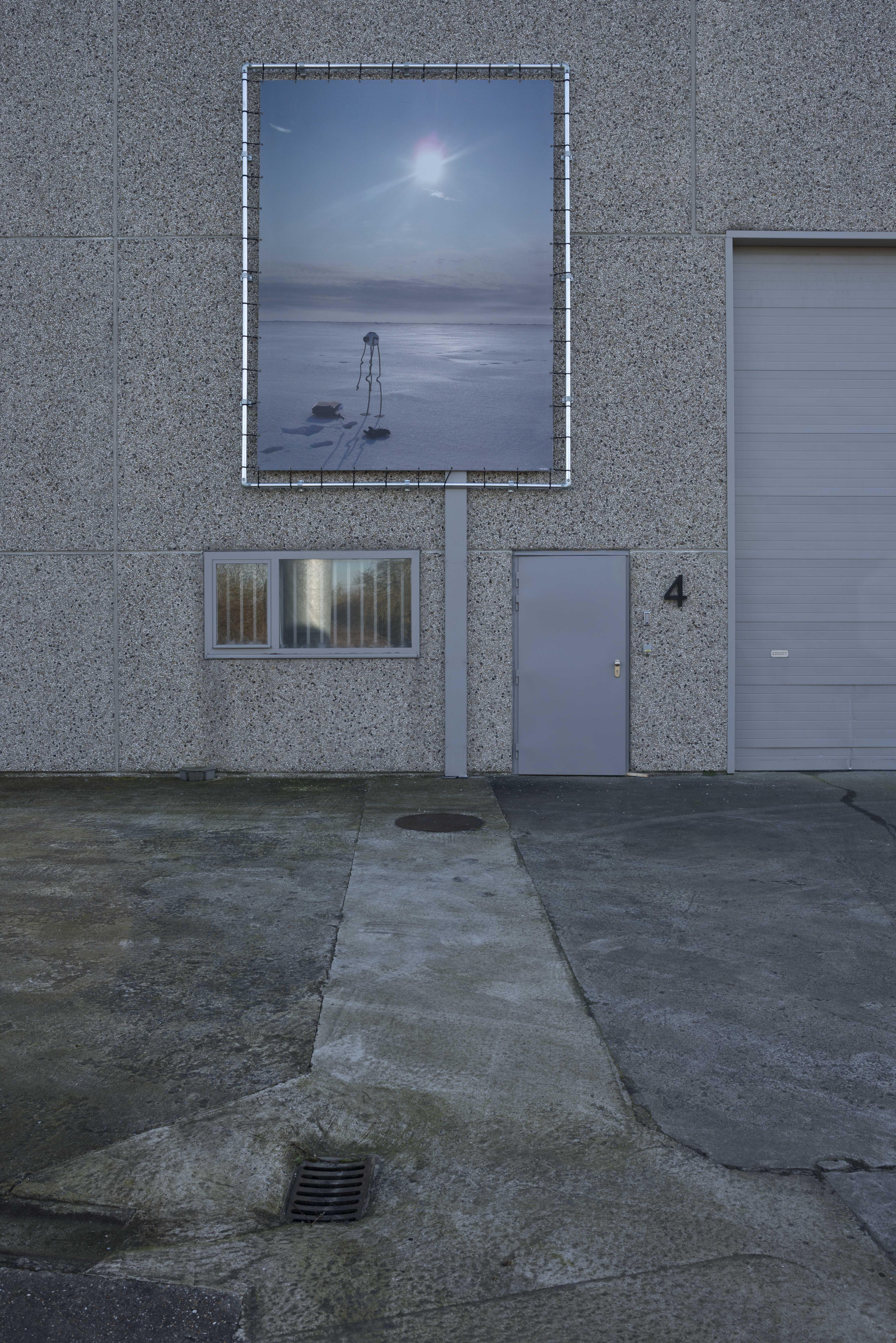 Panamarenko, Noordpool-Arlikoop, 2004, inkjet print on canvas , 370 h x 277 cm, ed. 3